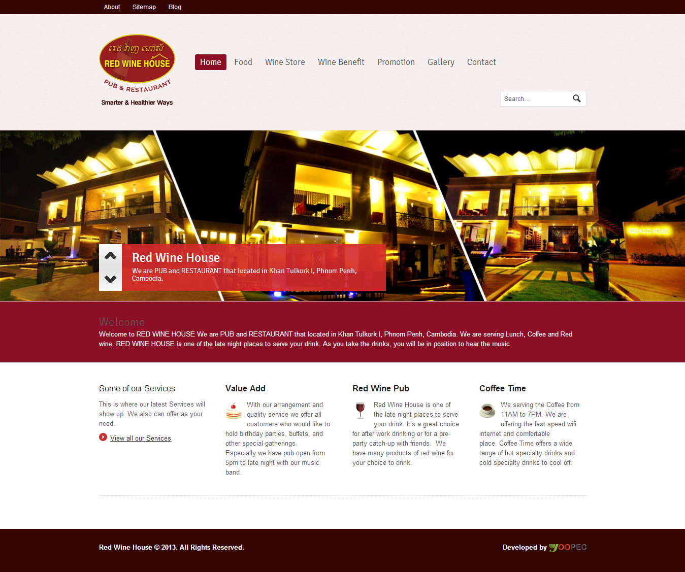 Creative Website Design for Red Wine House