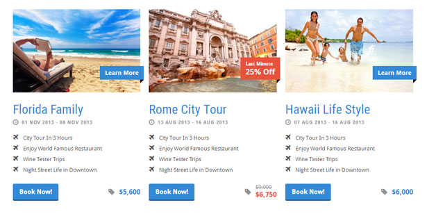 Tour web design
