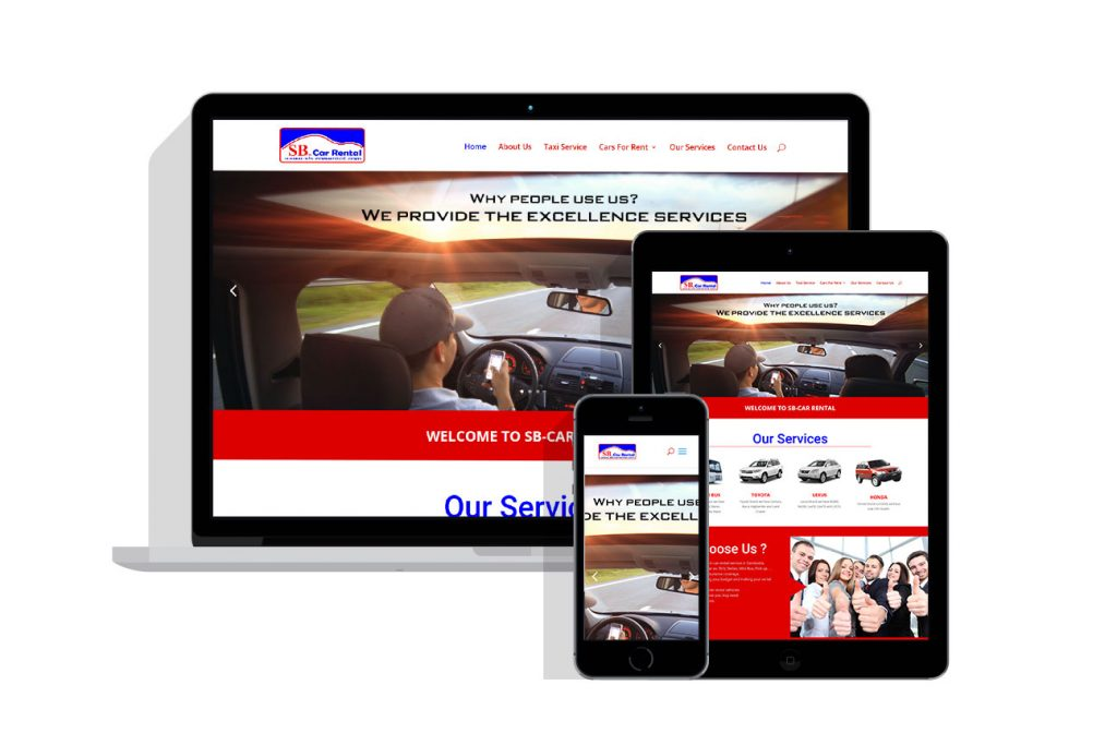 Web Design Project for sb car rental