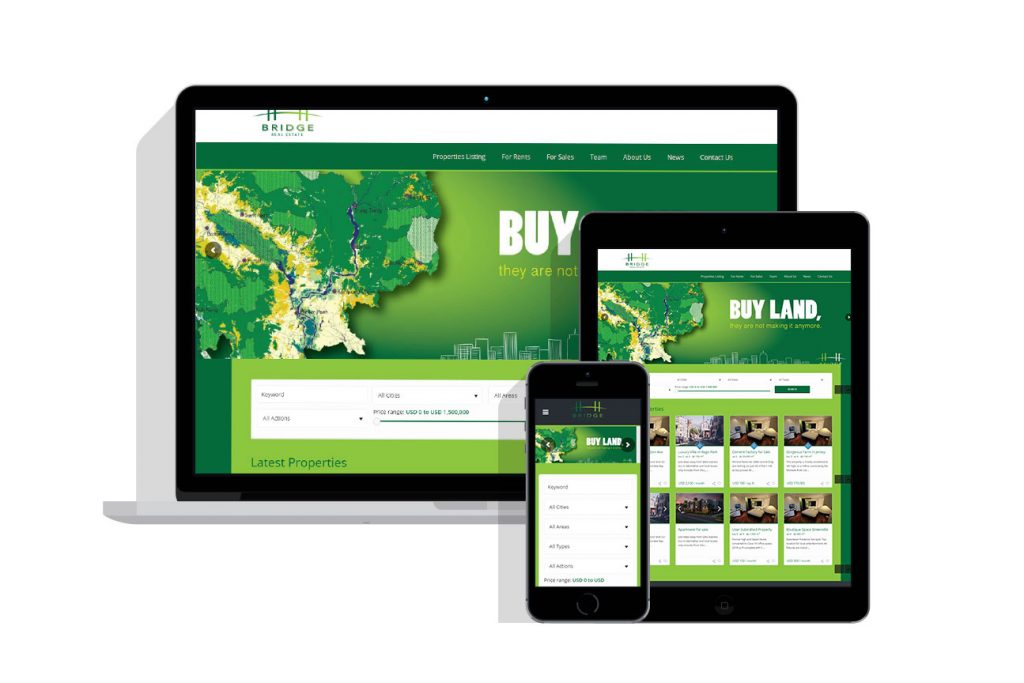 Web Design Project for bridge real estate